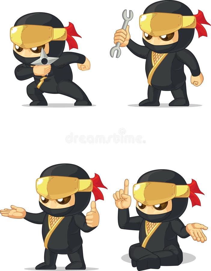 Ninja Customizable Mascot 14 illustration libre de droits