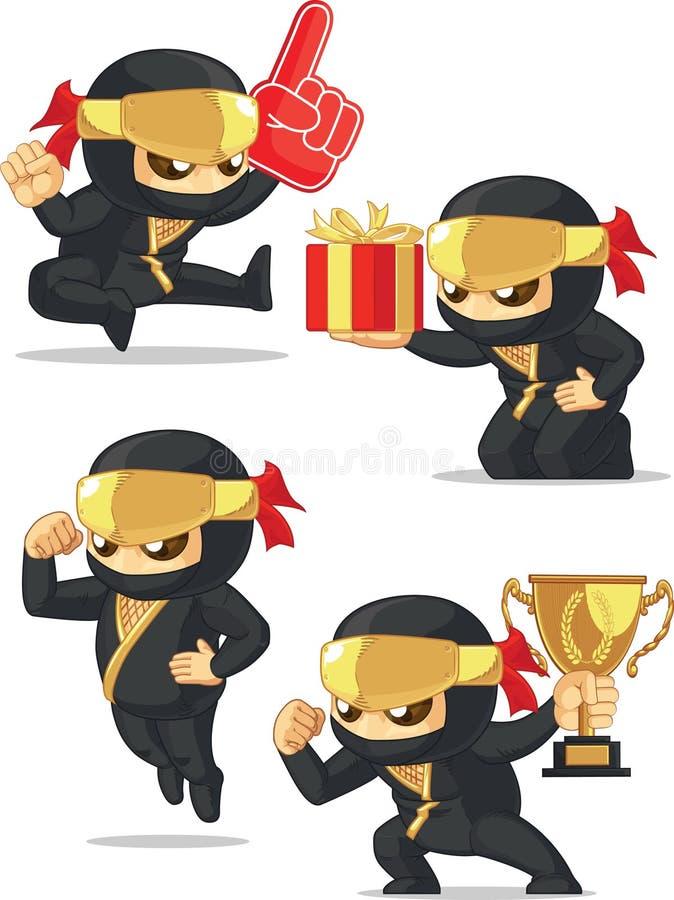 Ninja Customizable Mascot 17 illustration libre de droits