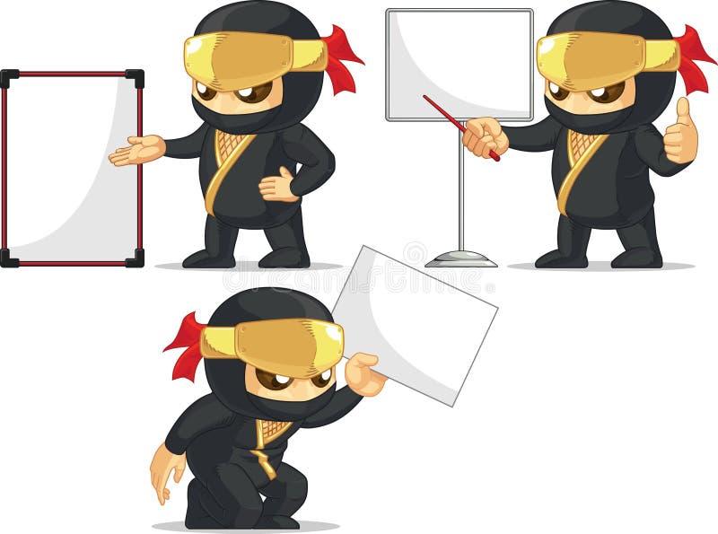 Ninja Customizable Mascot 18 illustration stock