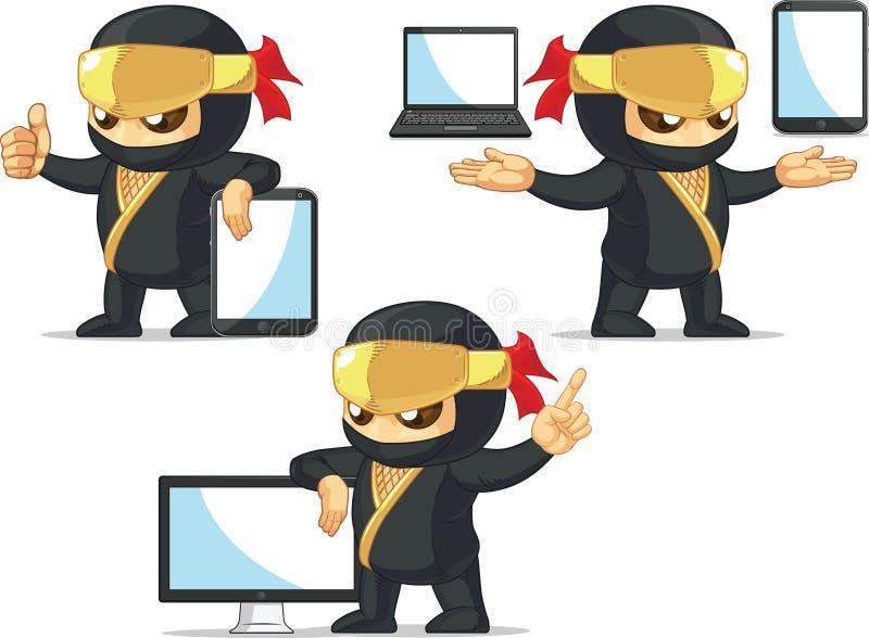 Ninja Customizable Mascot 19 illustration stock