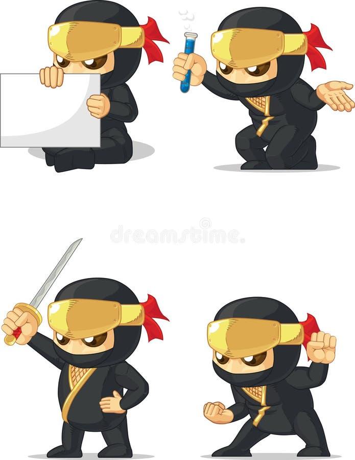 Ninja Customizable Mascot 2 illustration stock