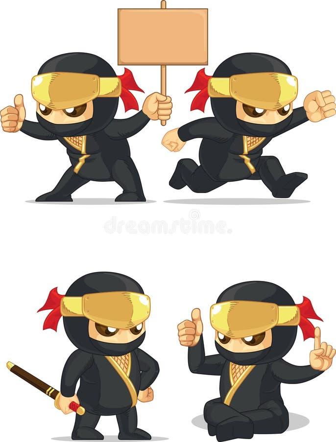 Ninja Customizable Mascot 6 illustration stock