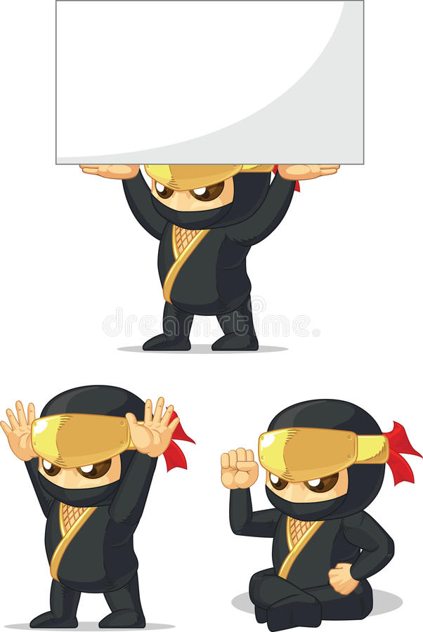 Download Ninja Customizable Mascot 11 Stock Vector - Image: 34692287