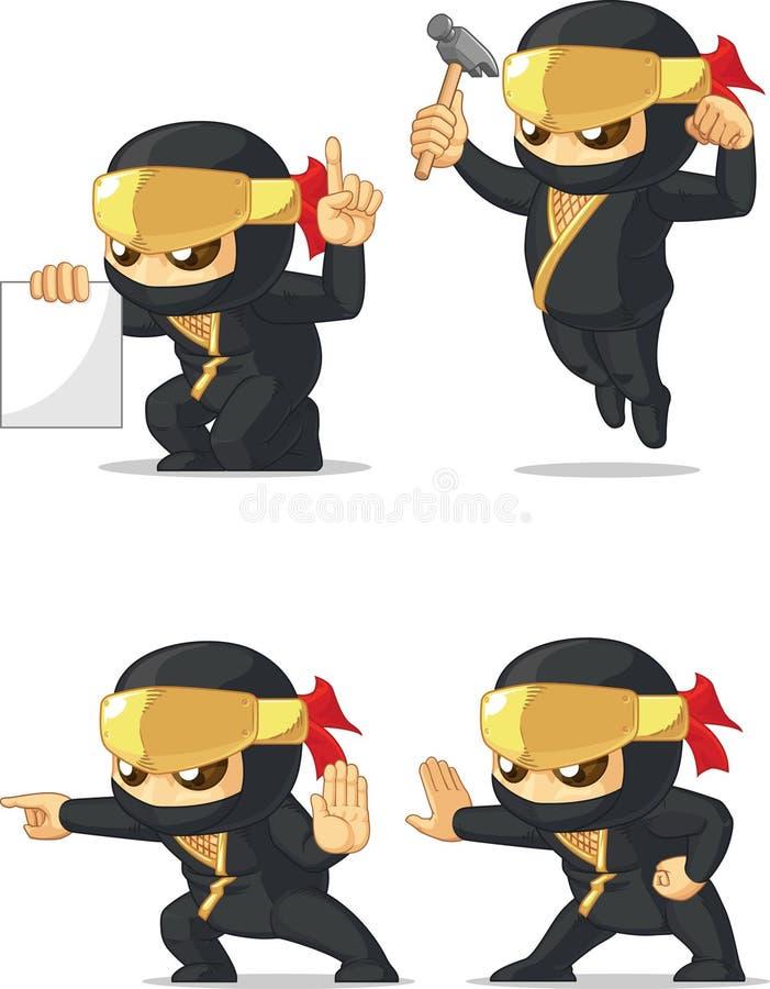 Download Ninja Customizable Mascot 4 Stock Vector - Illustration of character, action: 34692342