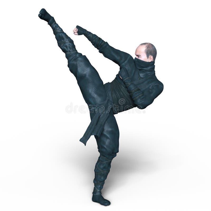 Ninja. 3D CG rendering of a ninja royalty free stock photo