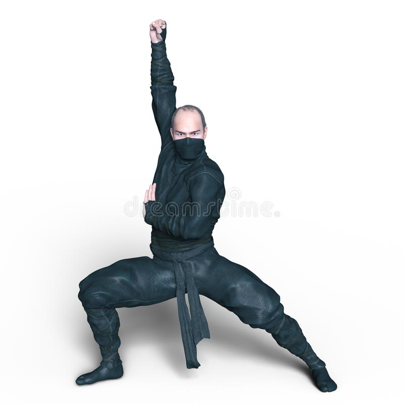 Ninja. 3D CG rendering of a ninja stock image