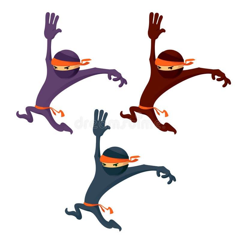Ninja de la historieta libre illustration