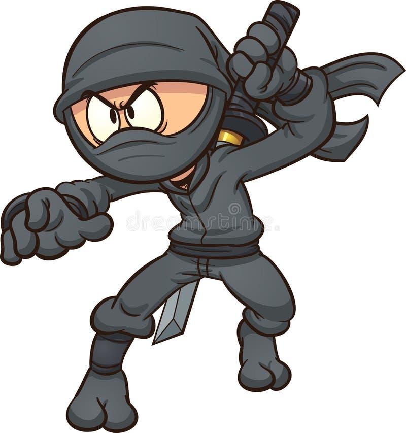 Ninja de la historieta ilustración del vector