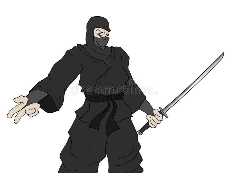 Ninja do perigo ilustração stock