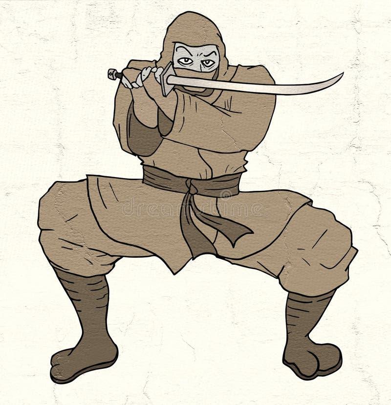 Ninja do perigo ilustração do vetor