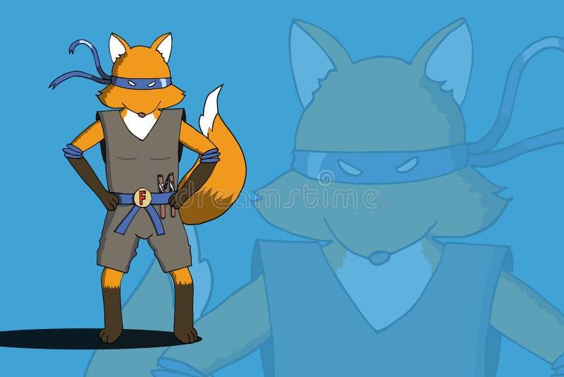 Ninja EPS10 del Fox ilustración del vector