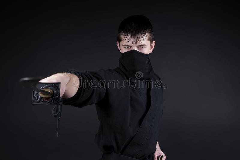 Ninja - espião, sabotador, assassino do discrição de Japão feudal. imagem de stock
