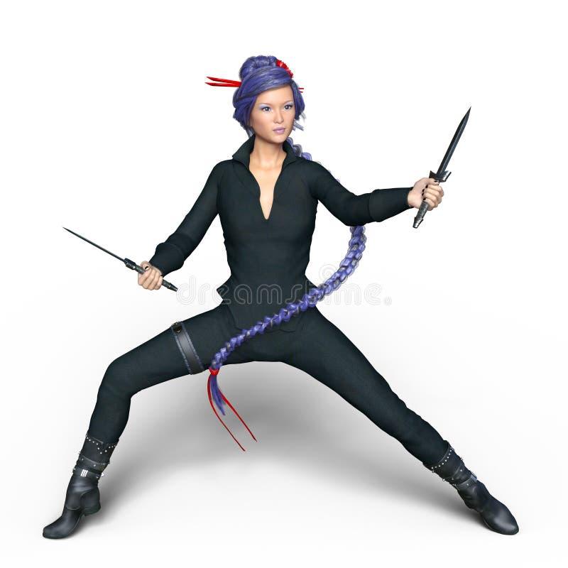 Ninja fêmea imagens de stock