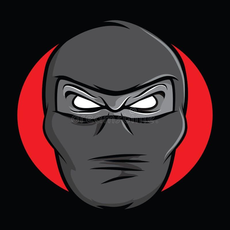 Ninja Face vektor illustrationer