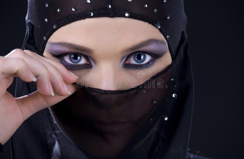 Ninja Face immagine stock