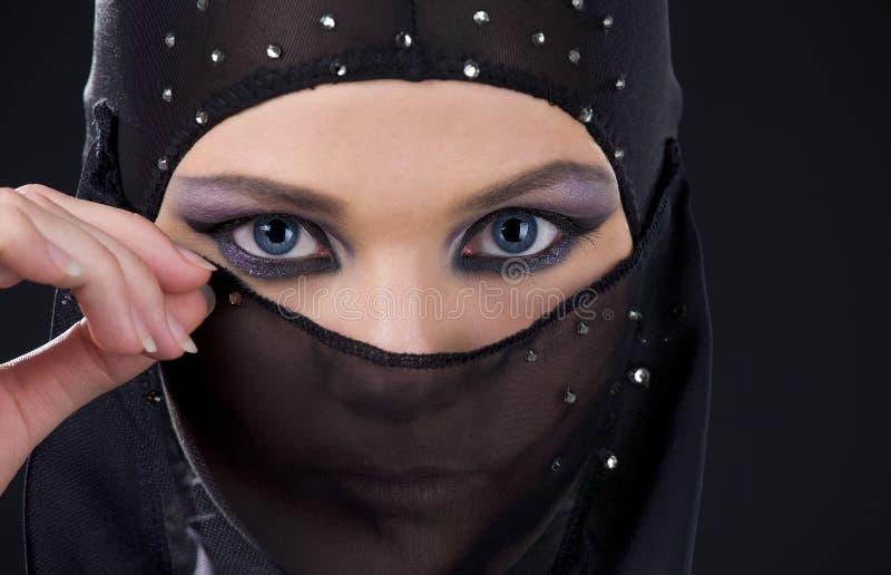 Ninja Face fotografie stock libere da diritti