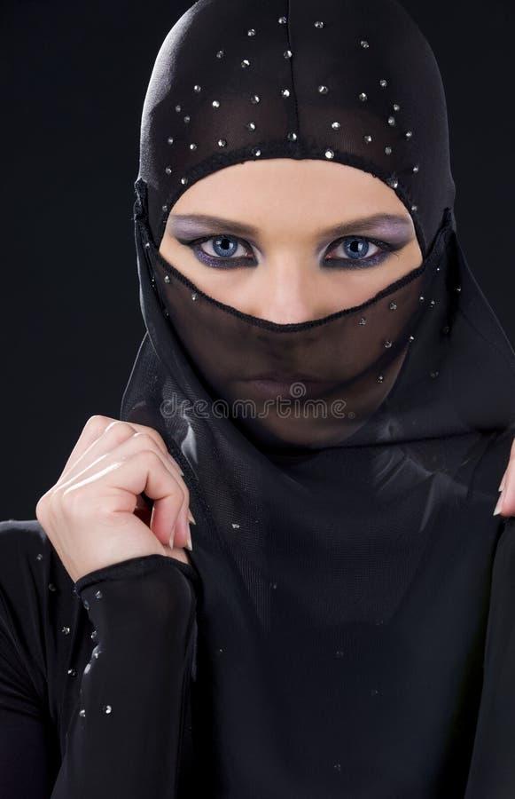 Ninja Face fotografie stock