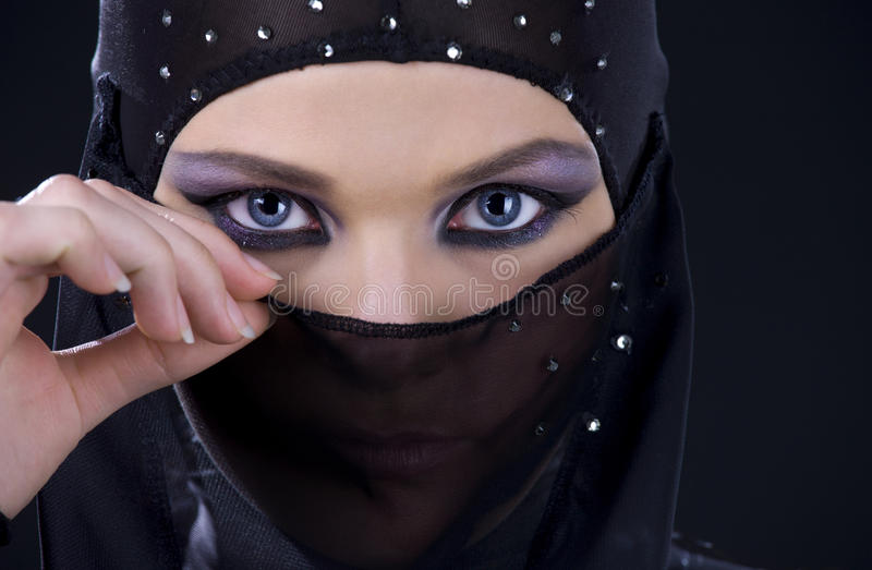 Ninja face stock image