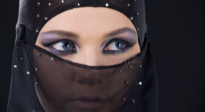 Ninja face stock photo