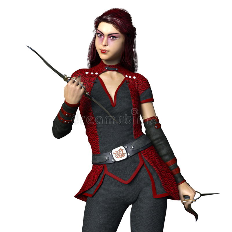 Ninja femminile immagini stock libere da diritti