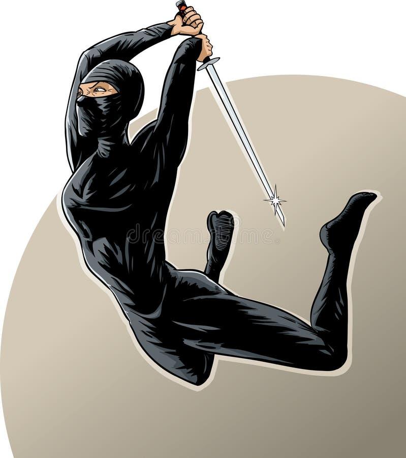 Ninja girl stock illustration