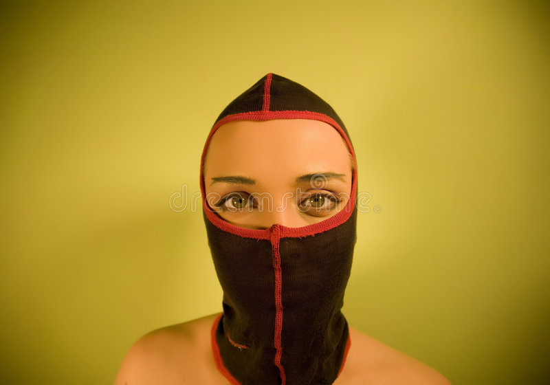 Ninja Girl. Young Ninja Girl. Yellow Series stock image