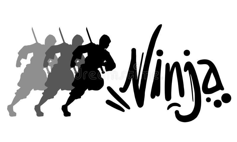 Ninja ikona ilustracji