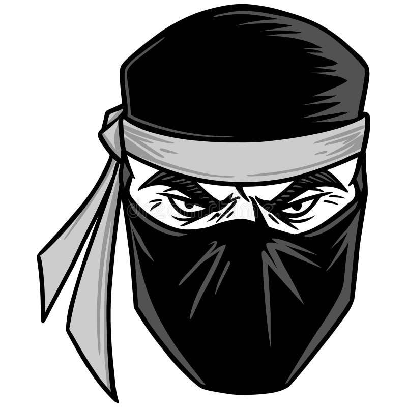 Ninja ilustracja ilustracja wektor