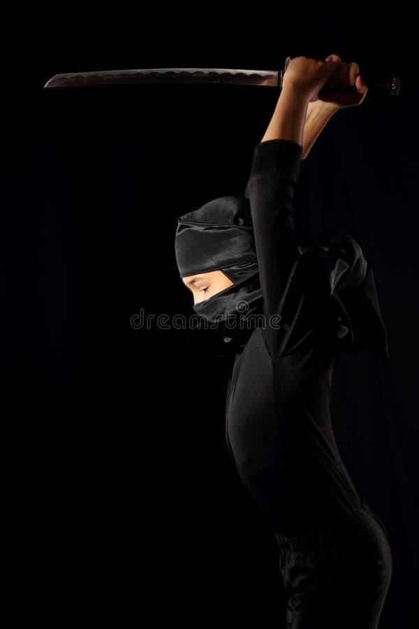 Ninja-Kind lizenzfreies stockfoto