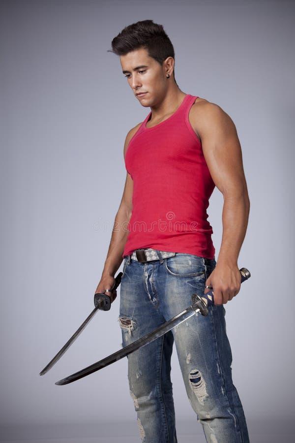 ninja kordzików wojownik zdjęcie stock