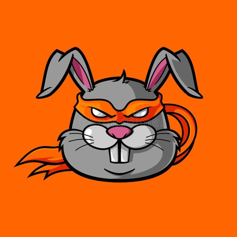 Ninja królik royalty ilustracja