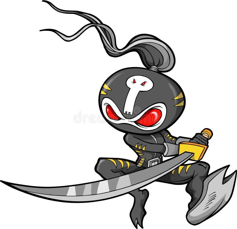 Ninja Krieger-Vektor lizenzfreie abbildung