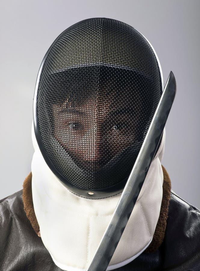 Ninja krigare royaltyfri bild
