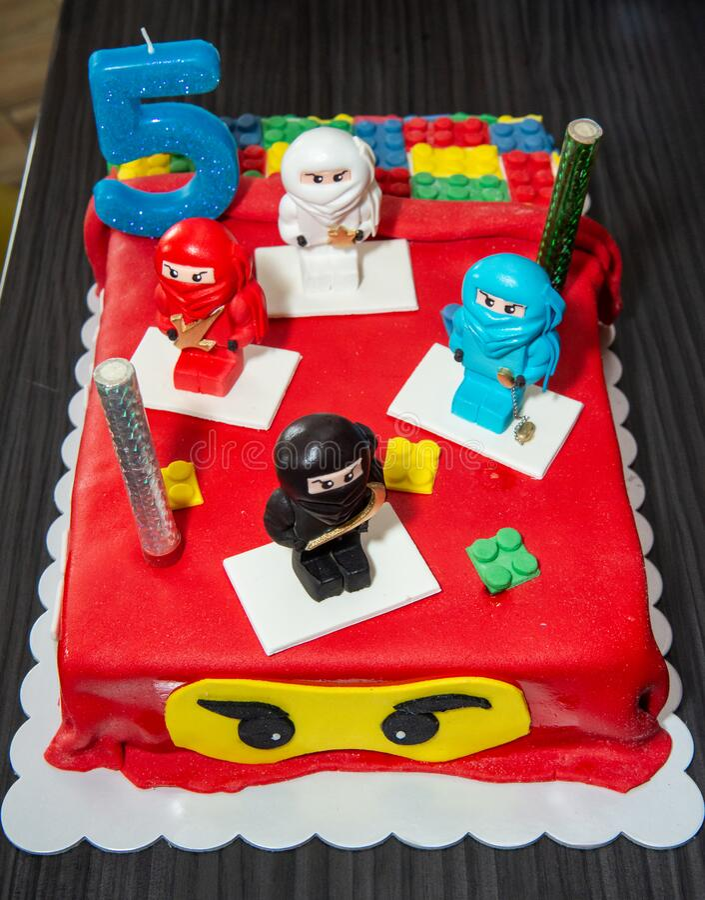 Miraculous Ninja Lego Mini Figures On Birthday Cake Editorial Photo Image Birthday Cards Printable Inklcafe Filternl