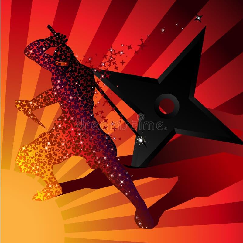 Ninja magic invisible silhouette Vector royalty free illustration
