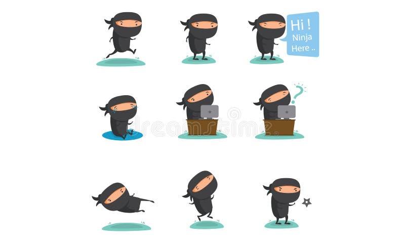 Ninja Mascot Set 2 ilustração do vetor