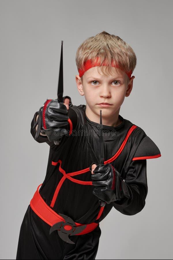 Ninja mienia kunai zdjęcie royalty free