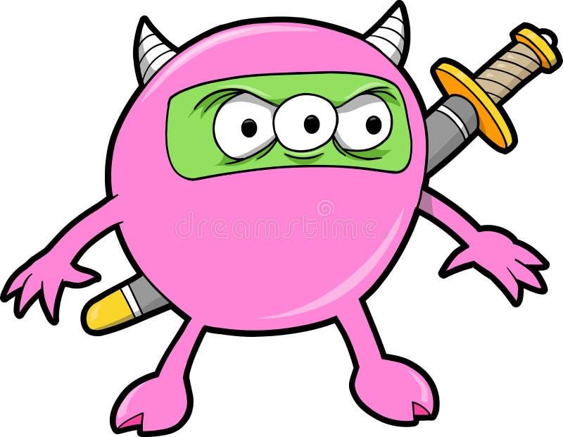 Ninja Monster-Vektor lizenzfreie abbildung