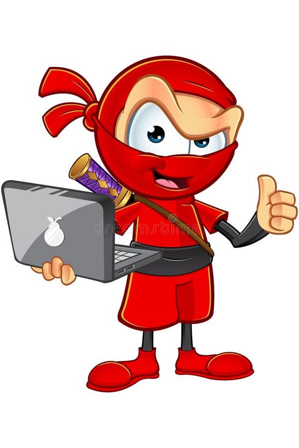 Download Ninja Rosso Sornione Character Illustrazione Vettoriale - Illustrazione di fumetto, eccellente: 55365643