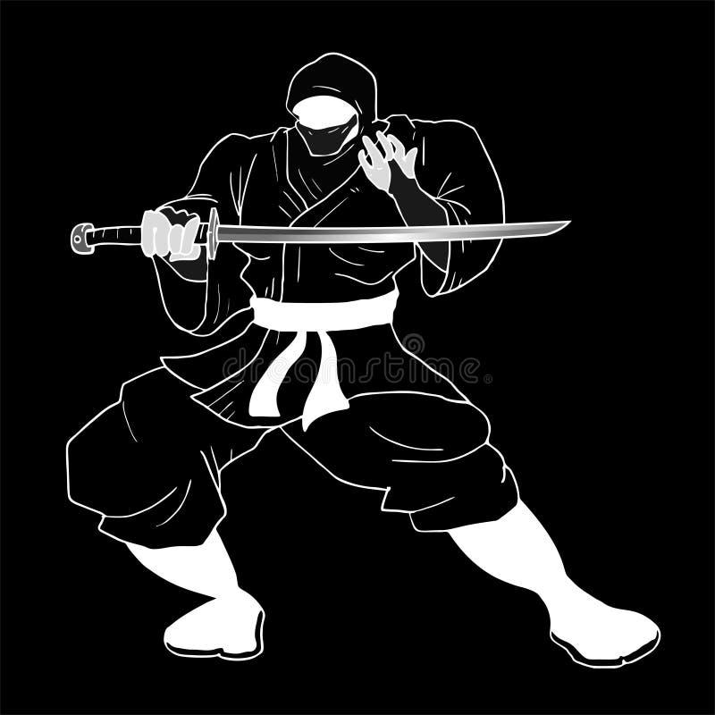 Download Ninja scuro illustrazione vettoriale. Illustrazione di illustrazione - 55357406