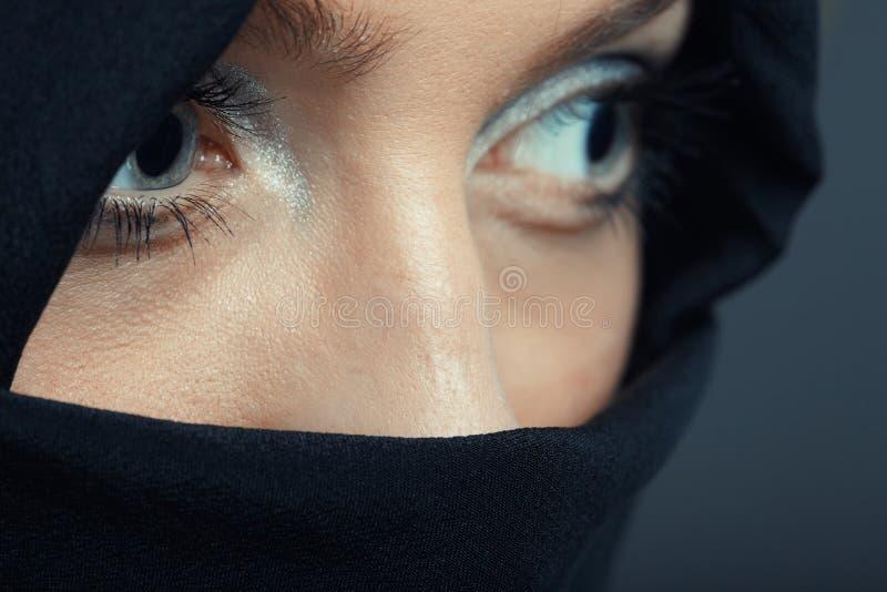 Ninja. In special black costume royalty free stock image