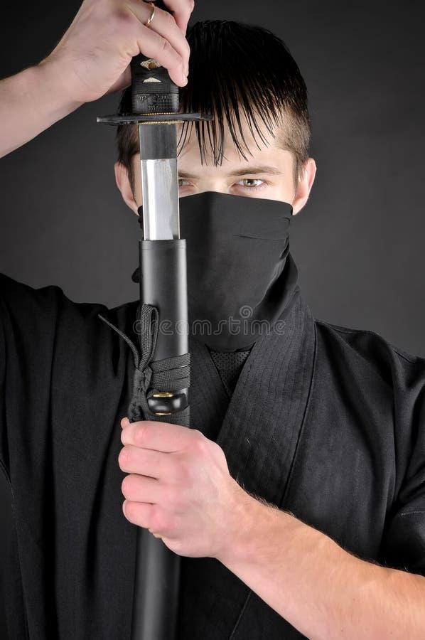 Ninja - spion, saboteur royalty-vrije stock fotografie