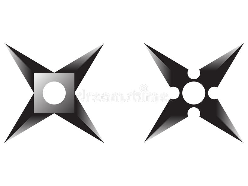 Download Ninja star stock illustration. Image of tattoo, cartoon - 14206649