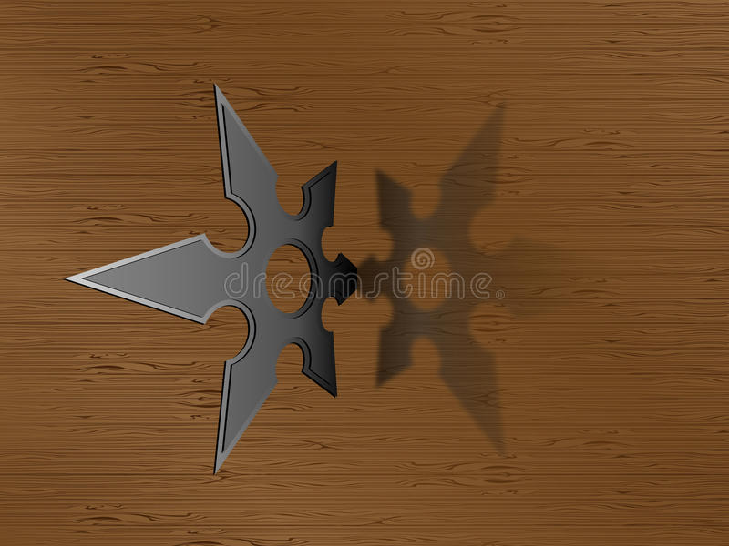 Ninja star stock illustration