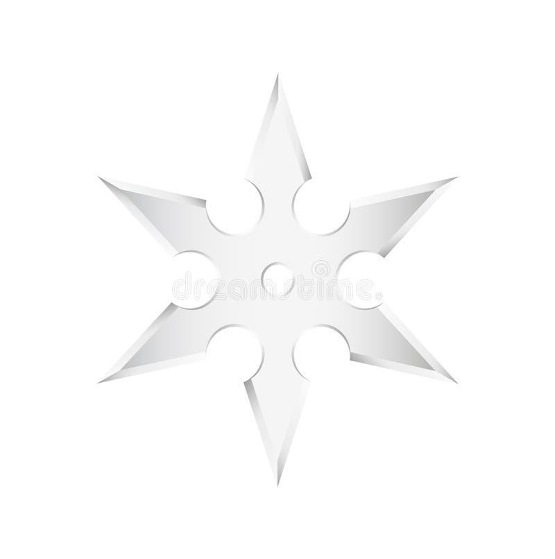 Download Ninja star - shuriken stock vector. Illustration of single - 24552086