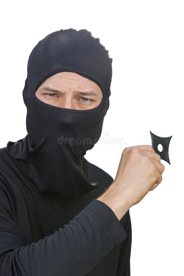 Ninja stjärna royaltyfria bilder