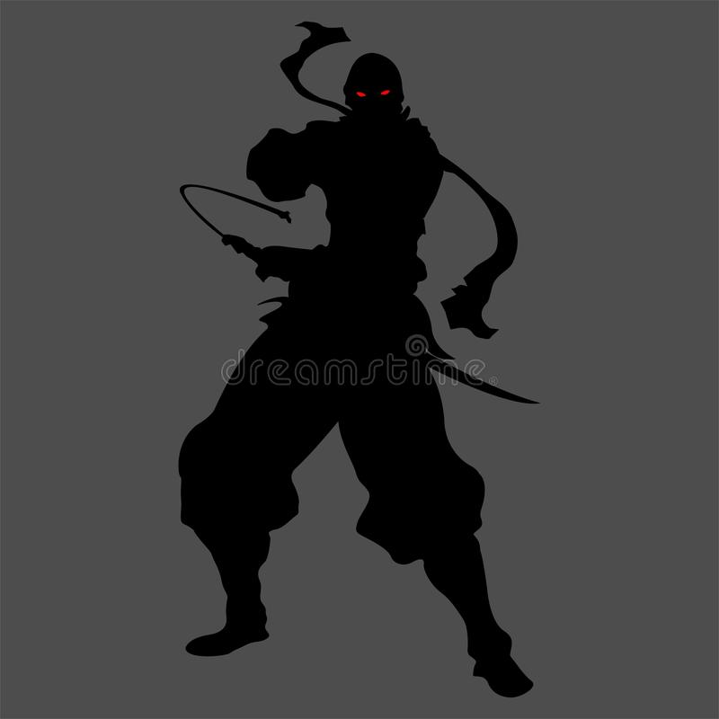 Ninja sylwetka ilustracji