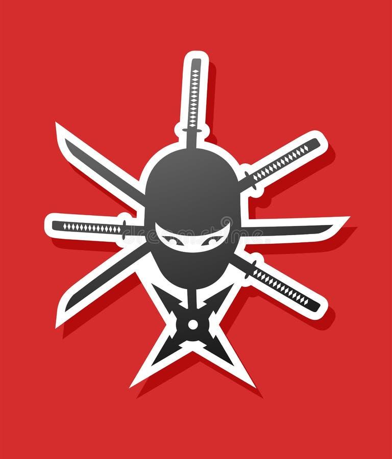 Ninja symbol ilustracja wektor