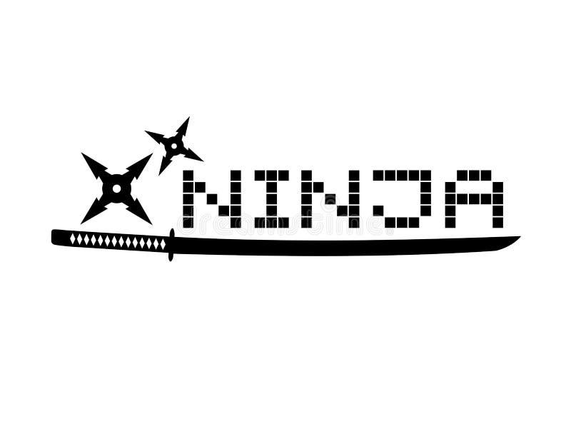 Ninja symbol ilustracji