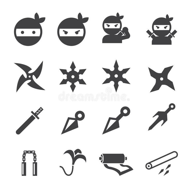 Ninja symbol royaltyfri illustrationer